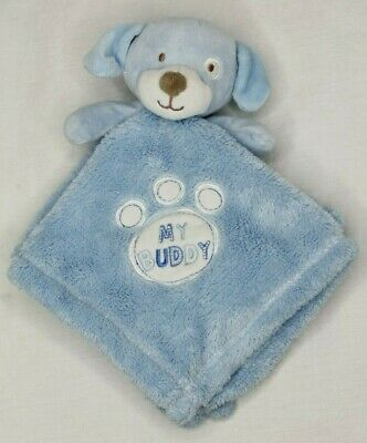 BABY GEAR Blue Puppy Dog MY BUDDY Paw Print Lovey Security Blanket