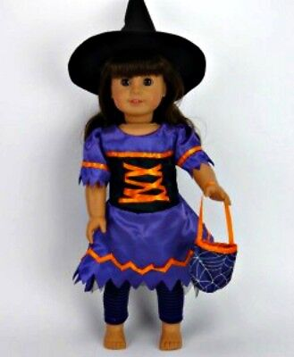 Halloween Witch Costume for 18 inch American girl doll