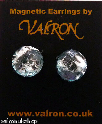 ICE SILVER DOME EARRING EITHER CLIP ON MAGNETIC OR STUD (13mm) Ice Dome