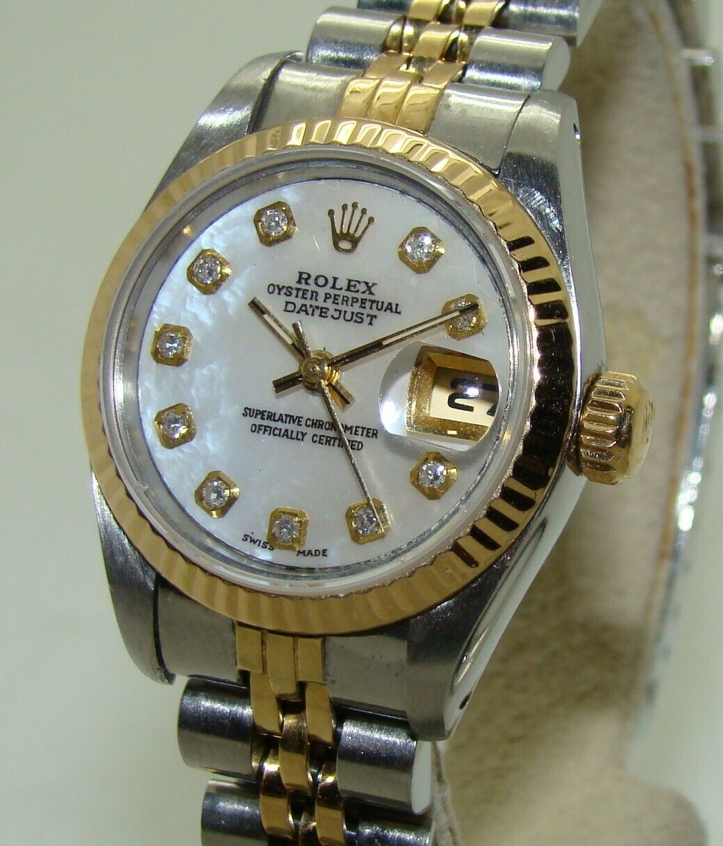 ROLEX WOMEN's 26mm STAINLESS & 18K GOLD DATEJUST 69173 AUTOMATIC WATCH C.1991