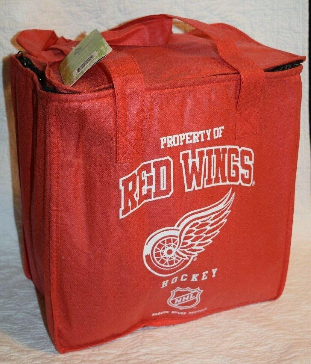 NWT!  Detroit Red Wings Reusable Cooler Cold Pack Bag  Folda