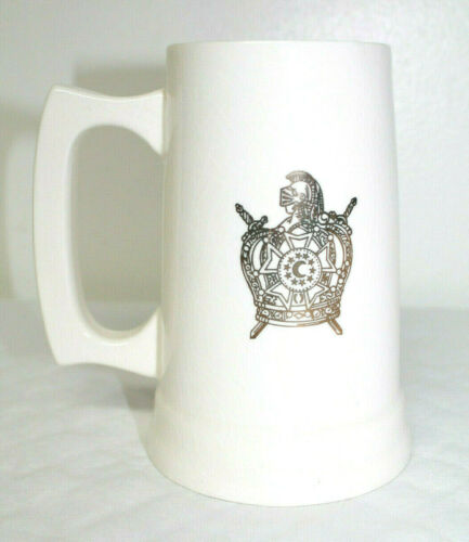 Order of De Molay Masonic Freemason Crest Crown Cup Mug Stein 1971