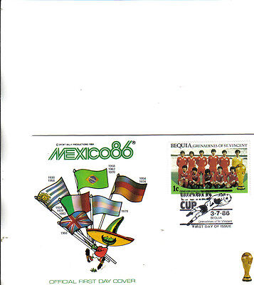 1986 world cup first day cover featuring winners 1930-1982 and south korea team