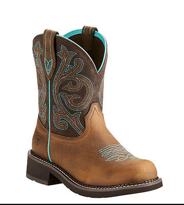 Ariat® Ladies Fatbaby Heritage Distressed Brown & Fudge Boots 10021462