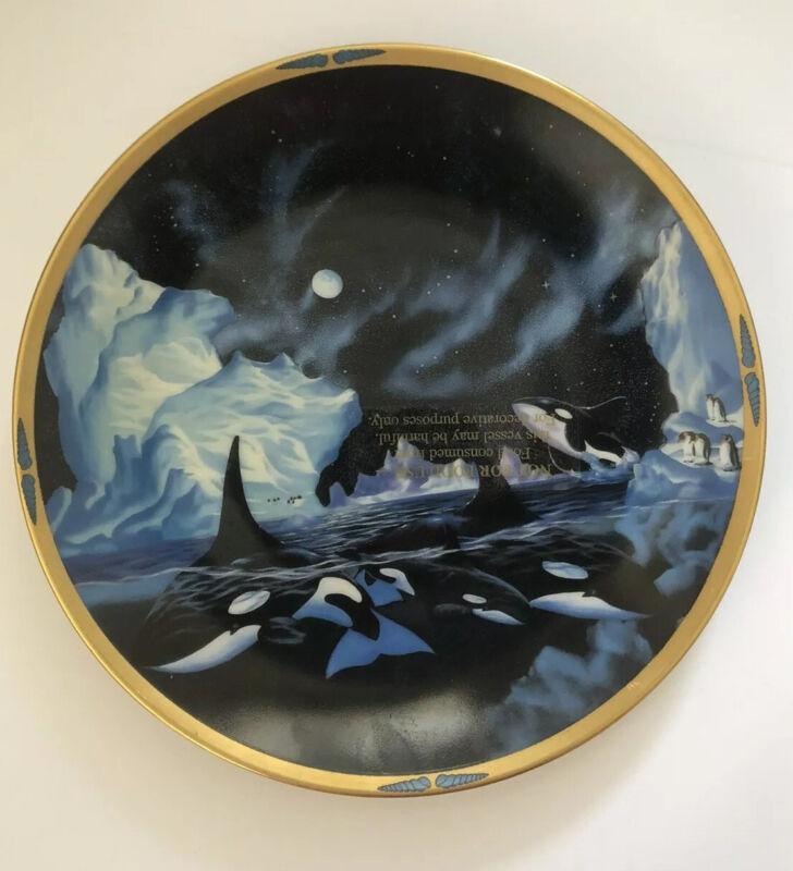 "Lenox ""Polar Strollers"" By Van Raemdonck Sea of Dreams Collector Plate 8"" 1994"