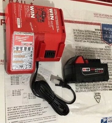 Milwaukee M18 REDLITHIUM XC5.0 Extended Battery (1) Pack - 48-11-1850 + CHARGER