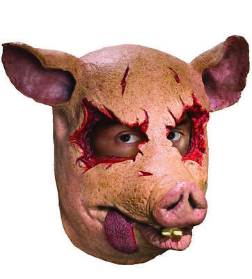 Swine Dead Pig Mens Adult Latex Saw Movie Animal Costume Mask](Pig Saw Mask)
