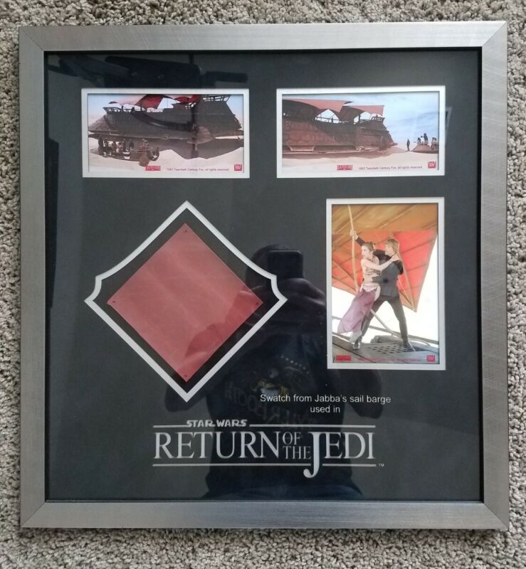 STAR WARS ROTJ Jabbas Sail Barge Swatch Framed Display Prop Store Of London COA