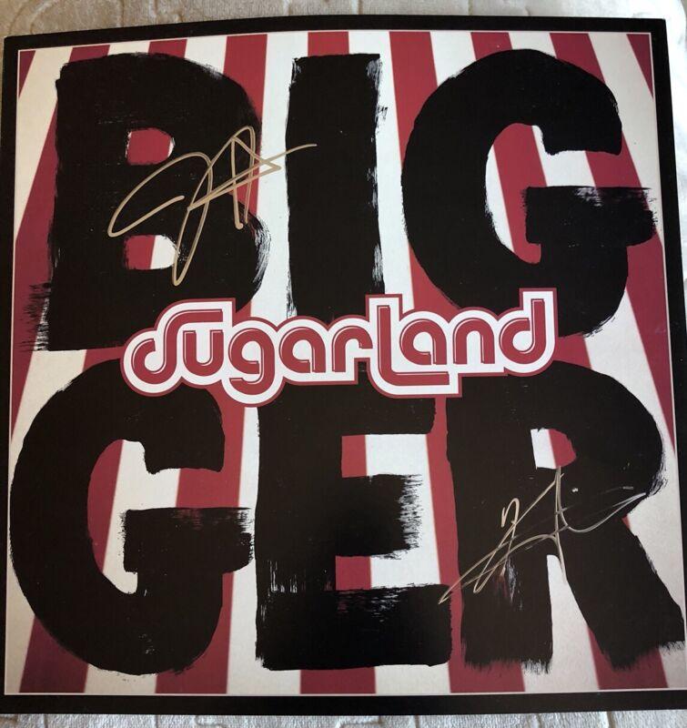 AUTOGRAPHED SUGARLAND - BIGGER (LP VINYL) New