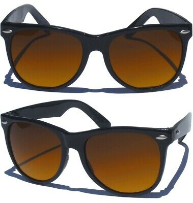 HIGH CONTRAST BLUE BLOCKER LENS Classic Style Driving Black Frame Sunglasses (Lens Contrast)