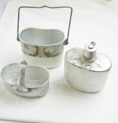 Airborne Flask Russian Soviet Army Canteen Set USSR Kettle Stove 3 Piece Grease