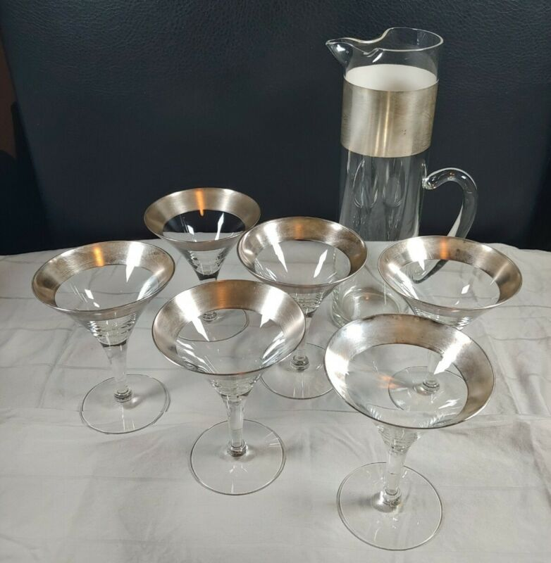 Vintage MCM Dorothy Thorpe (?) 7pc Martini Set