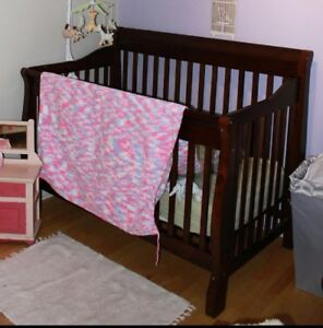 Baby crib, change table and glider rocking chair