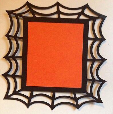 Halloween Spider Web Frame Die Cut Embellishment Handmade With Card Stock