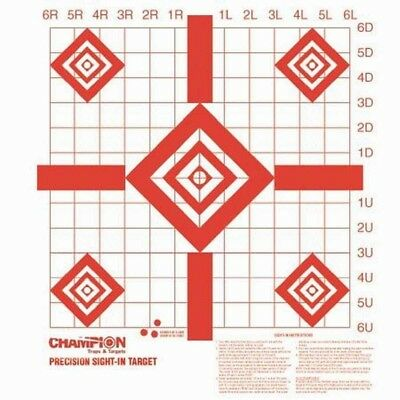 100 Pack Shooting Paper Targets Precision Sight-In Target Champion Hunting (Champion Paper)