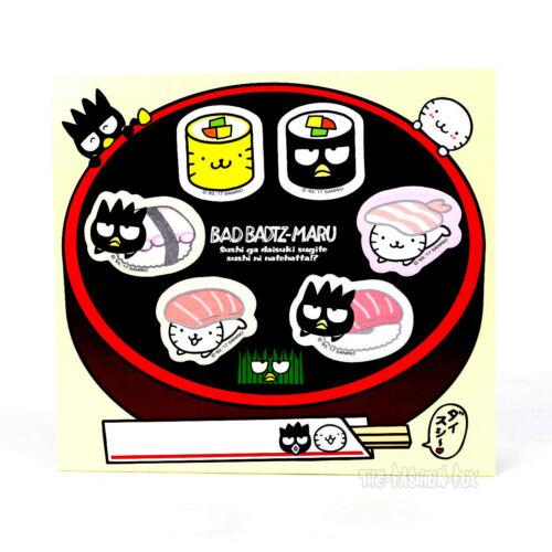 New RARE Sanrio Badtz Hana Maru Kawaii Sushi Sticky Notes Stationery Set Japan