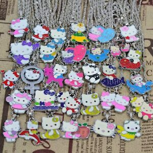 5Pcs Bulk Lost HelloKitty Necklaces Birthday Party Bag Favor Gift