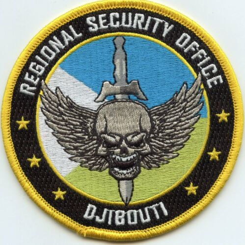 DJIBOUTI AFRICA REGIONAL SECURITY OFFICE colorful POLICE PATCH