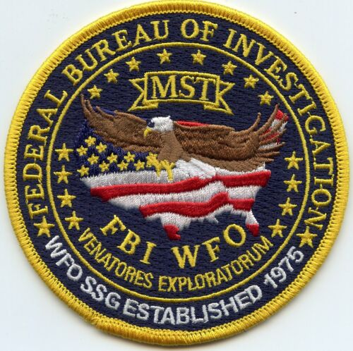 FBI WASHINGTON DC MOBILE SURVEILLANCE TEAM colorful POLICE PATCH
