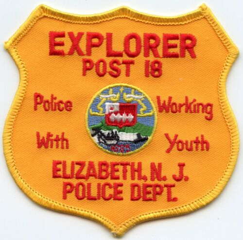 ELIZABETH NEW JERSEY NJ Police Working With Youth EXPLORER POLICE PATCH