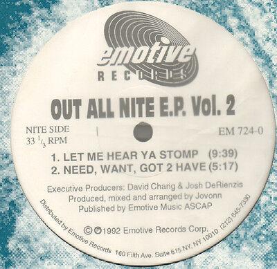 Jovonn   Out All Nite E P  Vol  2   1992   Emotional   Em 724 0   Usa
