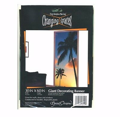 Palm Tree Scene Setter Wall Mural, Giant Decorating Banner 30