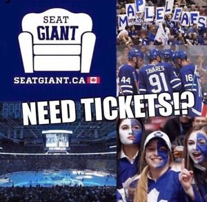 TORONTO MAPLE LEAFS TICKETS FROM $115! PLAYOFFS NOW ON SALE