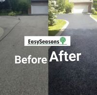 DRIVEWAY ASPHALT SEALING contact today to book your appointment!