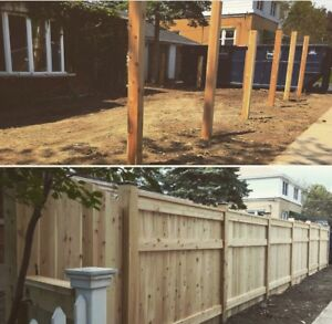 FENCING AND FENCE POST HOLES