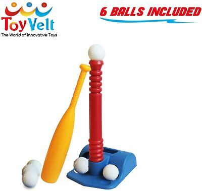 Toyvelt T-Ball Set for Toddlers, Kids, Baseball Tee Game Includes 6 Balls, Adjus