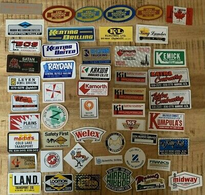 VINTAGE OILFIELD STICKER COLLECTION LOT OF 50 SERVICE DRILLING 70S-80s