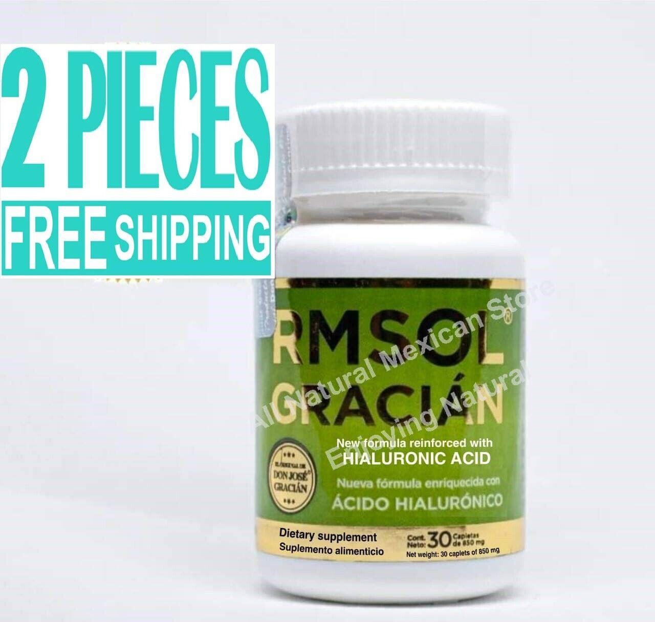 2 pieces RMSOL GRACIAN ACIDO HIALURONIC whit TUMERIC ROOT Arthritis Joint Pain