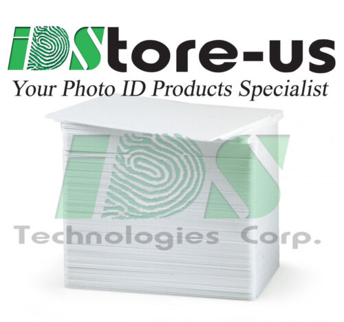 100 Blank White Composite 60/40 PVC Cards, CR80, 30 Mil, GQ, Credit Card size