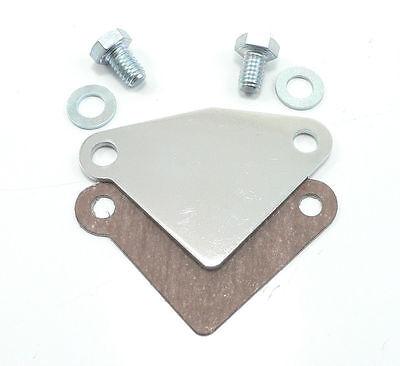 Egr Block - Chrome EGR Block Off Plate Small Block 70-87 Chevy GEN I 305 350 Intake Manifold