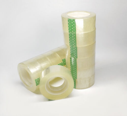 "Clear Transparent Tape Rolls 3/4"" x 1100"" Dispenser Refill 6 12 24 48 Tape Roll"
