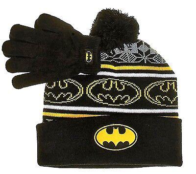 Batman Dc Comics Superheld Strick Wintermütze & Handschuhe - Batman Handschuhe Kind