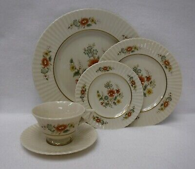 LENOX china TEMPLE BLOSSOM 5-piece Place Setting - cup saucer dinner salad bread