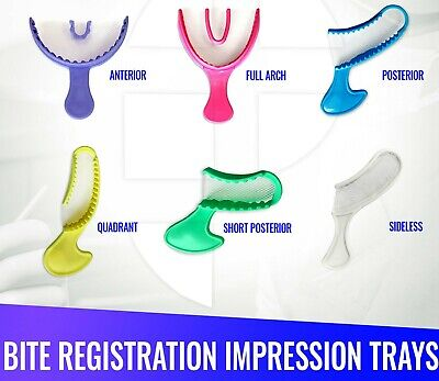 Dental Impression Bite Registration Triple Trays Mold Choose Size Quantity