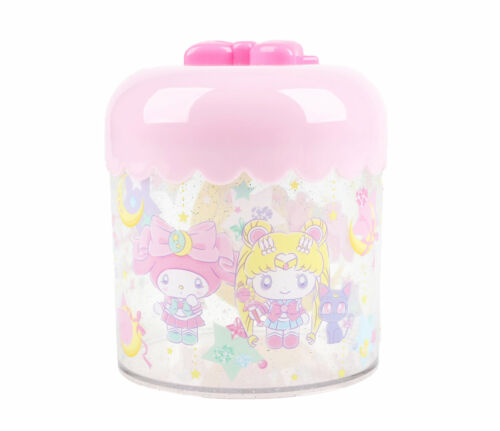 Sanrio Sailor Moon x My Melody Bathroom Vanity Makeup Puff Canister