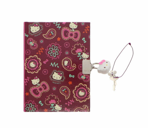 Hello Kitty Locking Diary Sanrio  Paisley Collection