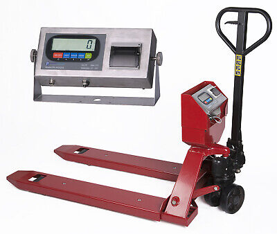 New Pallet Truck Pallet Jack Scale With Built-in Printer 5000 Capacity