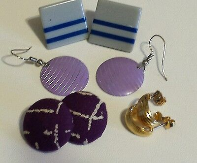 Costumes Of The 80s (Set of Vintage 80's Earrings - The Original Real Deal! Retro)