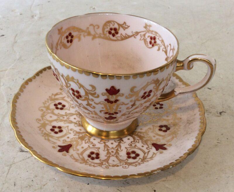 TUSCAN FINE ENGLISH BONE CHINA PINK TEA CUP & SAUCER MADE IN ENGLAND