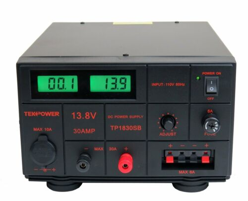 TekPower TP1830SB DC Adjustable DC Power Supply 1.5-15V 30A with Digital Display