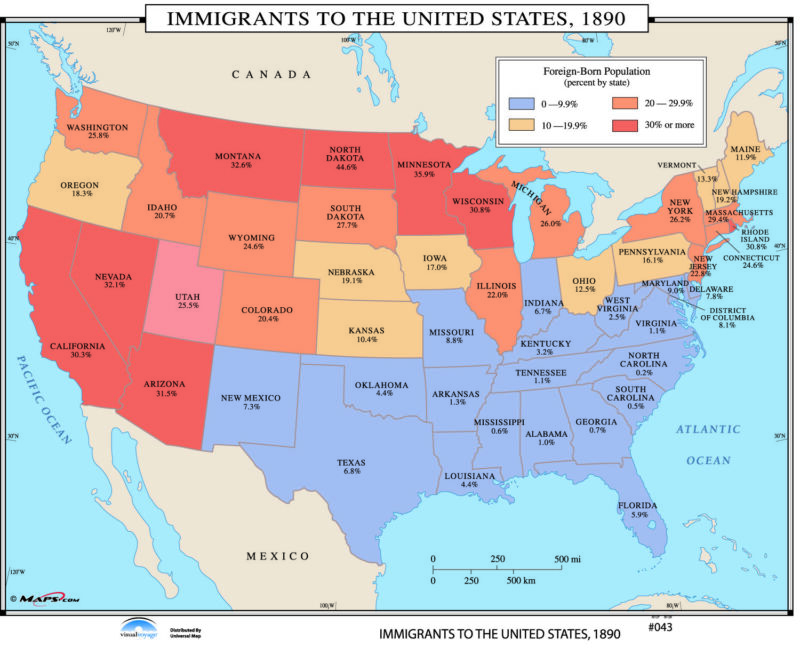 043 Immigrants to the US, 1890