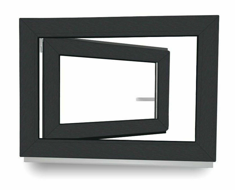 ALLE GRÖßEN Kellerfenster Kunststoff Fenster Dreh Kipp 2 3 verglast Anthrazit