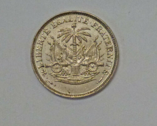 1904 HAITI 5 Cents No Country Name Nice Luster AU