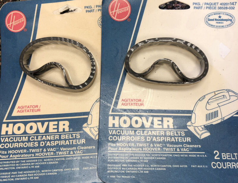 2 Packs Of Hoover Twist & Vac Agitator Belts 40201147, 2 Per Pack