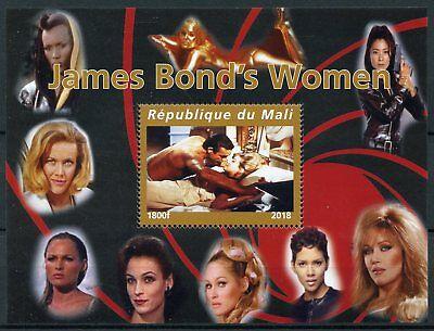 Mali 2018 MNH James Bond Girls Women 007 Sean Connery 1v M/S Movies Stamps