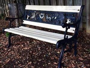 Kids Cast Iron Outdoor Bench Seat Safari Animals Kids Size Beenleigh Logan Area Preview